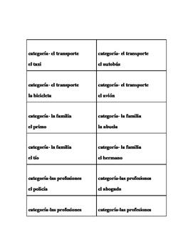 Spanish Game - What am I? - ¿Qué soy yo?