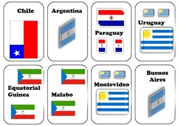 Spanish Game: countries and Capitals