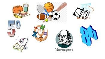 Spanish Game: la escuela (school classes)