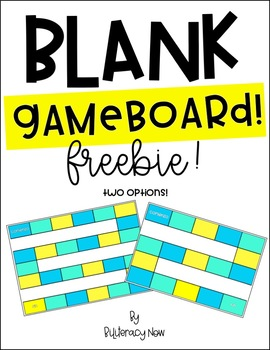 Spanish Gameboard - Blank! Two options! FREEBIE!