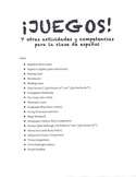 Spanish Games (45 pages of 20+ classroom activities)