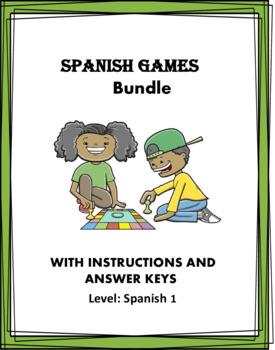 Spanish Game Bundle ~ Juegos en Español ~ 5 Games! ~ Year End