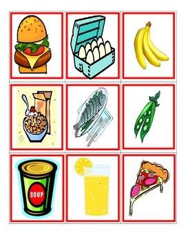 Spanish Games: Food/La Comida  (likeUNO)