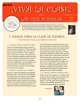 Spanish Games Free Newsletter: 7 Must Have Games for the Spanish Classroom