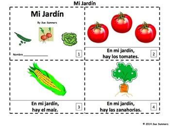 Spanish Garden 2 Emergent Reader Booklets - Mi Jardín