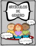 Spanish Gender Articles Puzzles: el and la