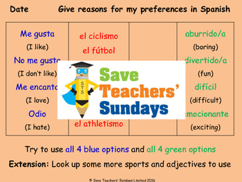 Spanish Gender agreement Lesson plan, PowerPoint (with aud