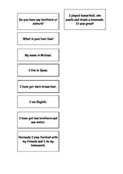 Spanish Teaching Resources. General Revision Matching Cards Warmer Activity.