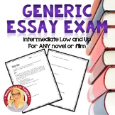 Spanish Generic Essay Exam for ANY novel or film (Intermediate low and up)