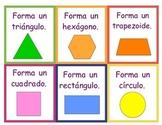 Spanish Geoboard Shape Task Cards