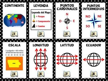 Spanish Geography Vocabulary Bundle