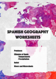 Spanish Geography: provinces, rivers, relief and climates.