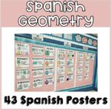 Spanish Geometry Poster Set- 2D, 3D figures Geometría