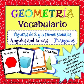 Spanish Geometry Vocabulary Pack