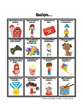 Spanish Get to Know Your Classmates