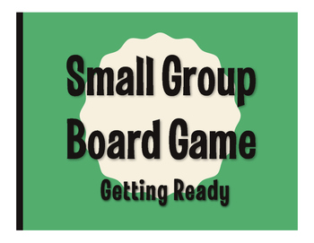 Spanish Getting Ready Board Game