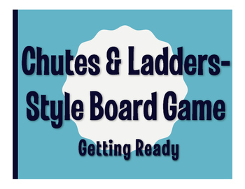 Spanish Getting Ready Chutes and Ladders-Style Game