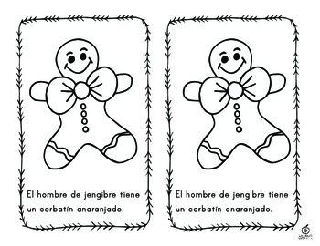 Spanish Gingerbread Color Words Emergent Reader
