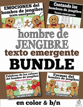 Spanish Emergent Reader Bundle: Gingerbread Man