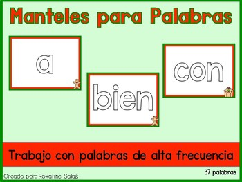Spanish Gingerbread High Frequency Word Mats