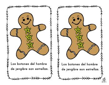 Spanish Emergent Reader: Gingerbread Man Shapes