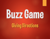 Spanish Giving Directions Buzz Game