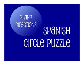 Spanish Giving Directions Circle Puzzle