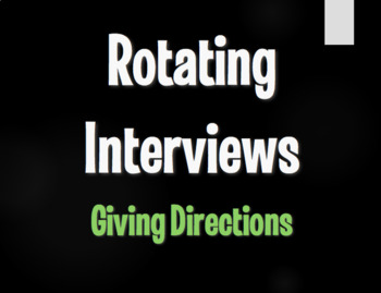 Spanish Giving Directions Rotating Interviews