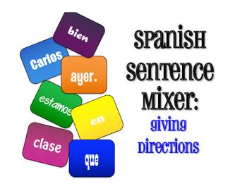 Spanish Giving Directions Sentence Mixer