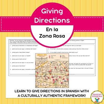 Spanish Vocabulary:  Giving Directions in La Zona Rosa