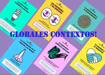 Spanish Global Context Posters+description Espanol Contextos Globales MYP DP PYP