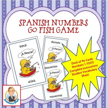 Spanish Go Fish Game Numbers 1 to 1000