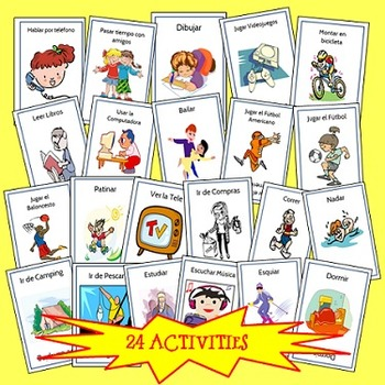 Spanish Go Fish Things You Like to Do, or Que te gusta hacer