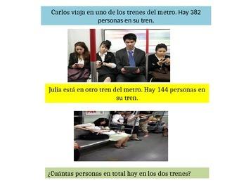 Spanish 2ndGrade   Chapter 6 Math Performance Task