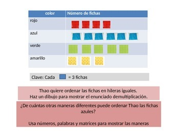 Spanish 3rd Grade    Chapter 3 Math Performance Task