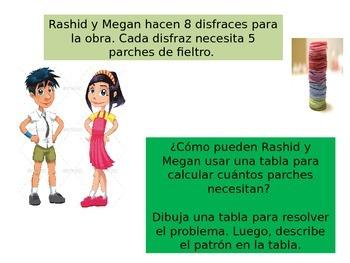 Spanish 3rdGrade  Chapter 5  Math Performance Task