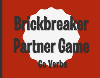 Spanish Go Verb Brickbreaker Partner Game