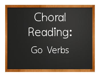 Spanish Go Verb Choral Reading