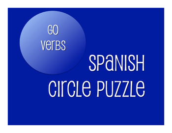 Spanish Go Verb Circle Puzzle