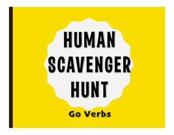 Spanish Go Verb Human Scavenger Hunt