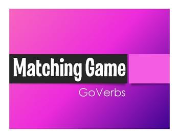 Spanish Go Verb Matching Game