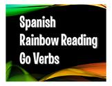 Spanish Go Verb Rainbow Reading
