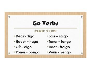 Spanish Go Verb Wall Charts