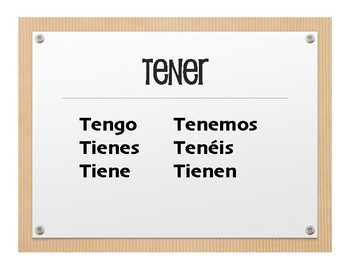 Spanish Go Verb Wall Charts