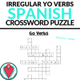 Spanish Grammar - Go Verbs - Spanish Crossword Puzzle