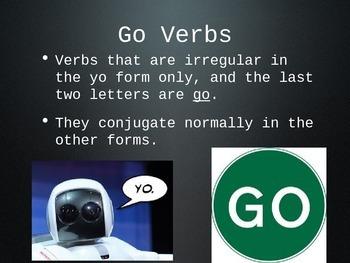 Spanish Go Verbs (Hacer, Venir, etc.) PowerPoint Slideshow Presentation