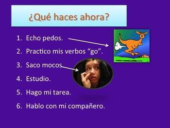 Spanish Go Verbs PowerPoint and Interactive Notebook Activity