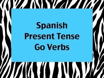 Spanish Go Verbs (Venir, Traer, Salir, etc) Keynote Presentation for MAC
