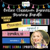 Spanish Google Classroom Headers/Banners *GROWING BUNDLE*