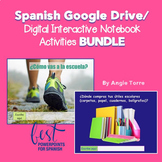 Spanish Google Drive Activities Bundle Distance Learning